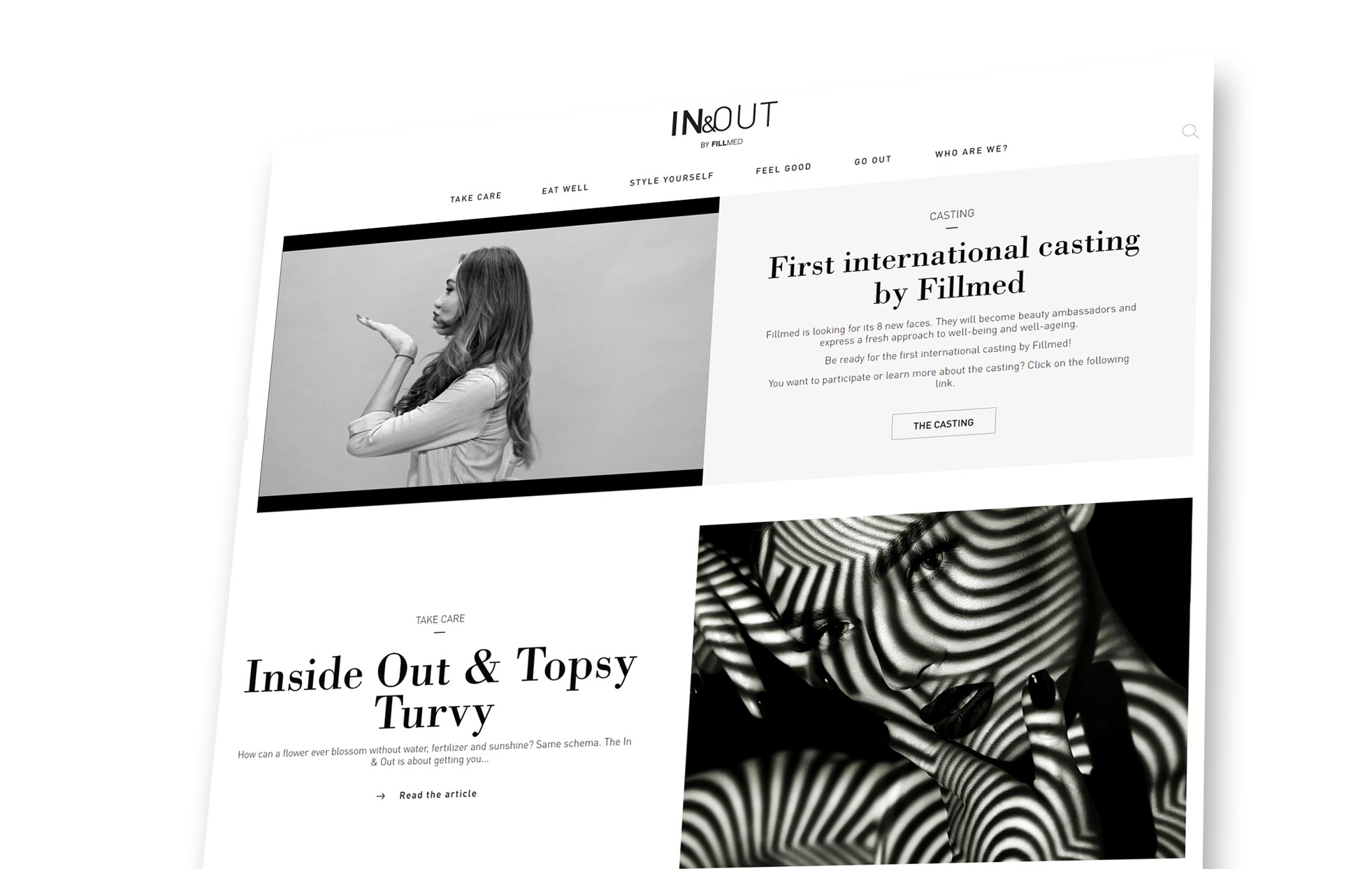 Website In&Out in black and white   Fillmed